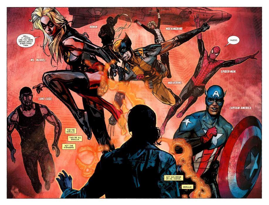 Ms-MARVEL marvel superhero sexy babe avengers wallpaper