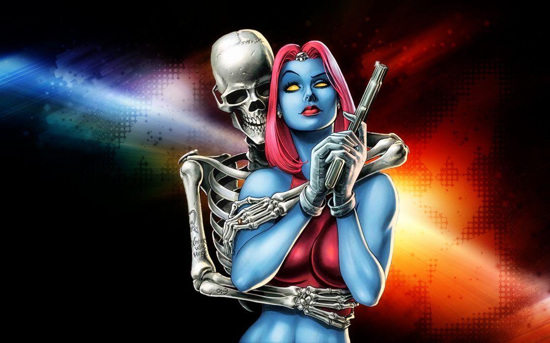 mystique marvel superhero action xmen xmen sexy babe