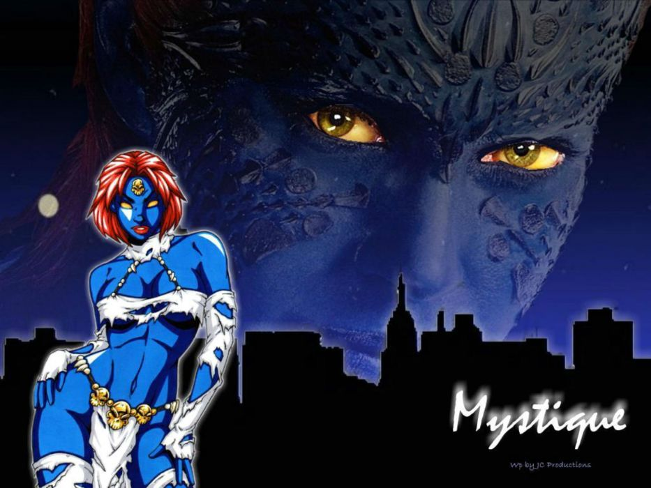 MYSTIQUE marvel superhero action xmen x-men sexy babe wallpaper
