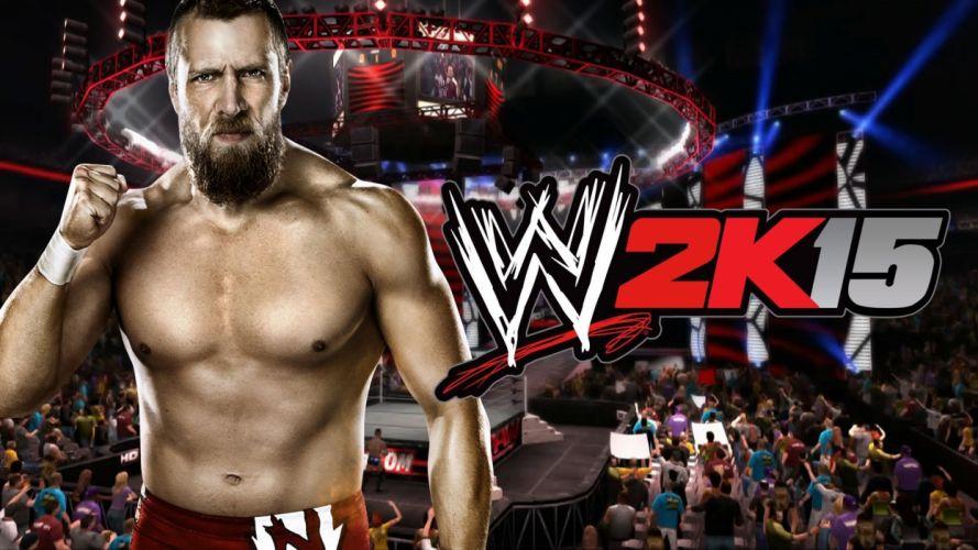 WWE 2K15 wrestling fighting action sport wallpaper