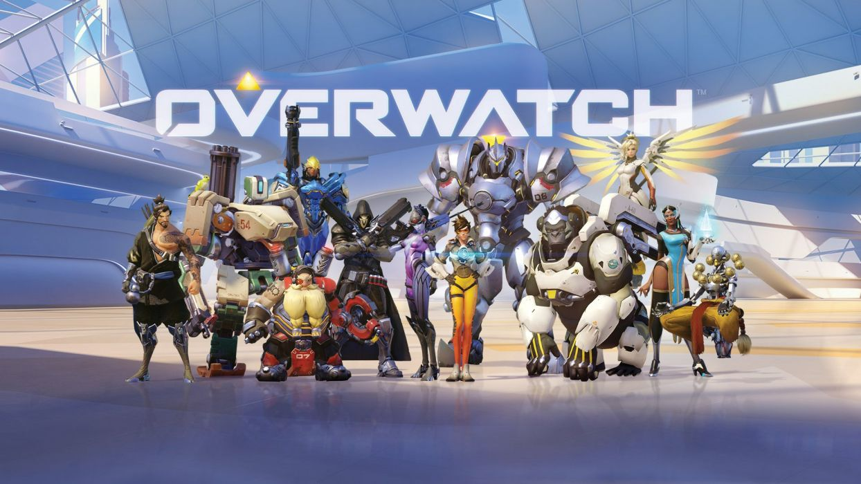 OVERWATCH shooter action fighting sci-fi mecha Strategy wallpaper