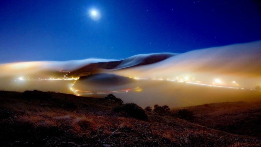 Nature Fog and Mist landscape wallpaper