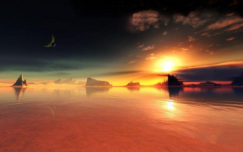 planet sky sun wallpaper