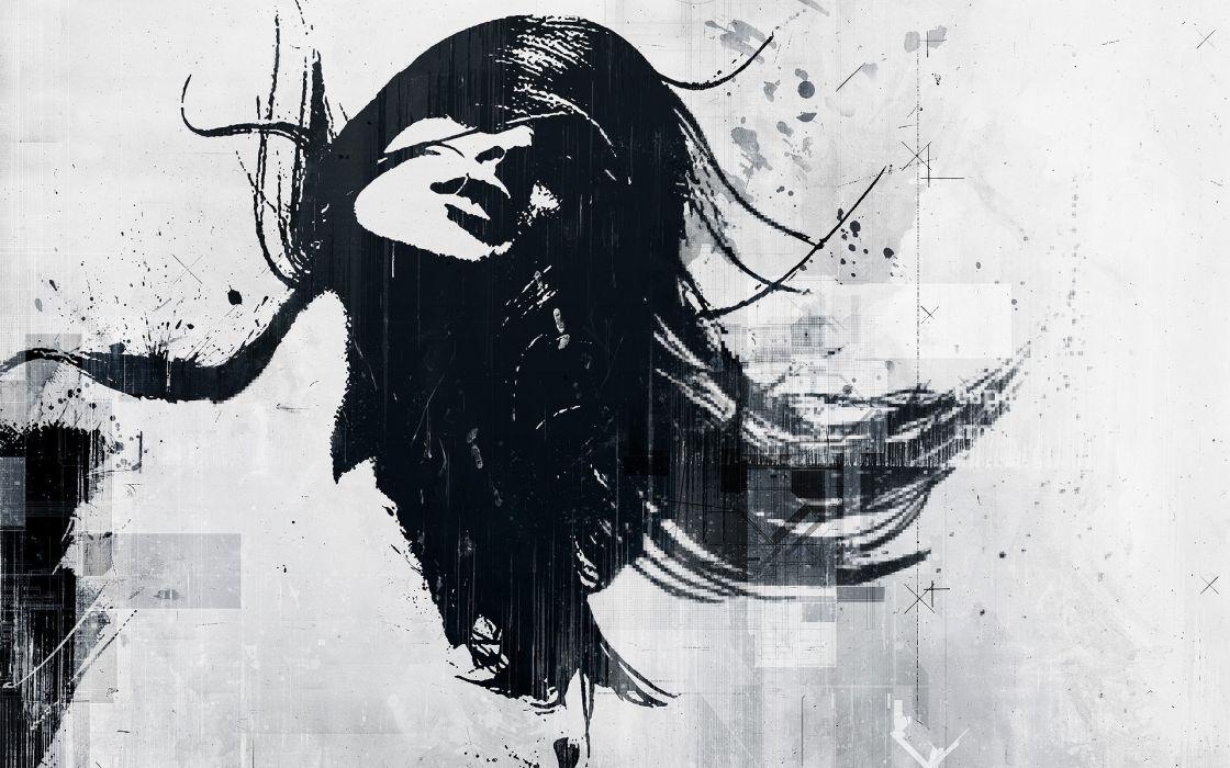 Art girl light wallpaper