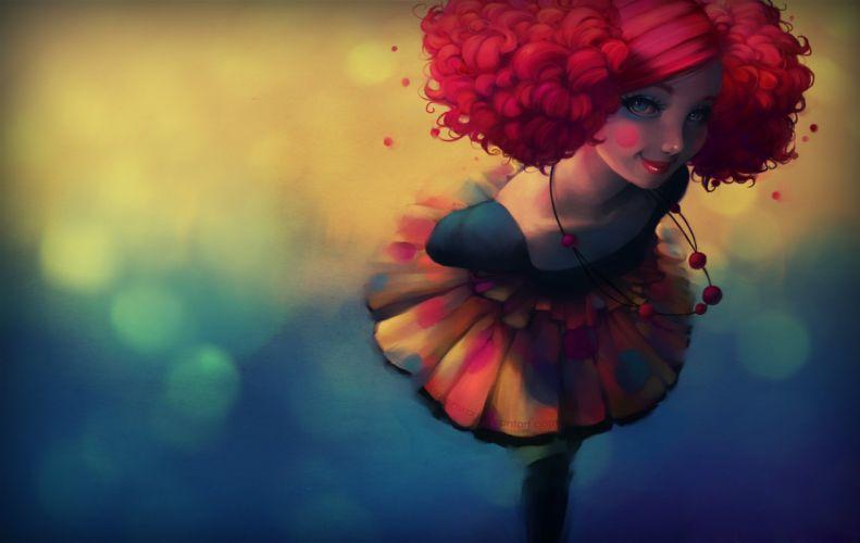Girl hair skirt blush beads wallpaper