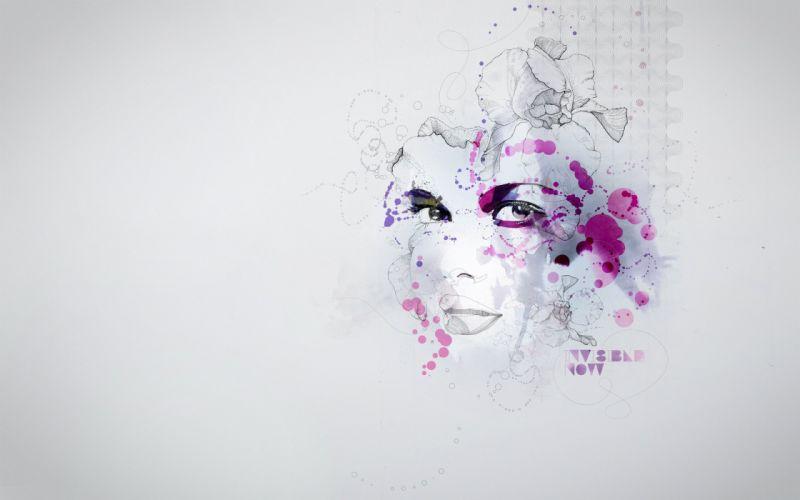 Figure face spots wallpaper