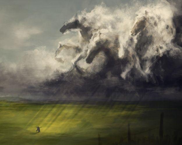fantasy magic horses wallpaper