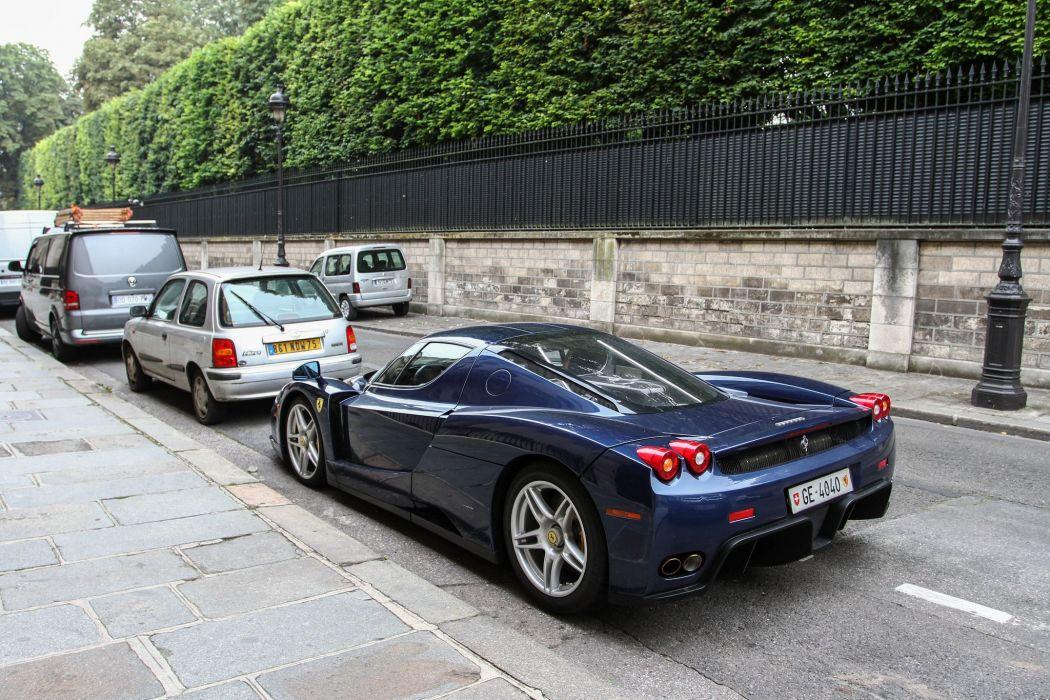 Ferrari Enzo supercars cars italia blue bleu wallpaper