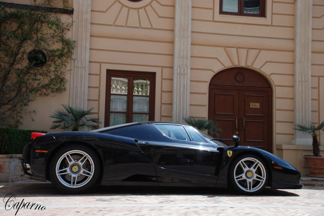 Ferrari Enzo supercars cars italia black noir wallpaper