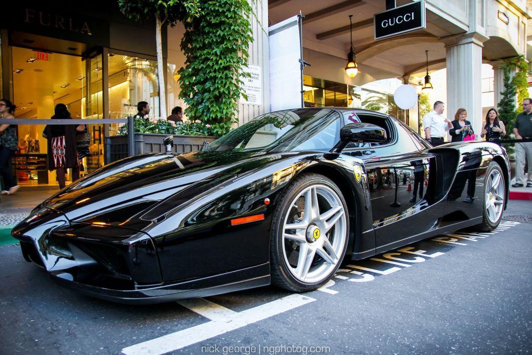 Ferrari Enzo supercars cars italia black noir wallpaper