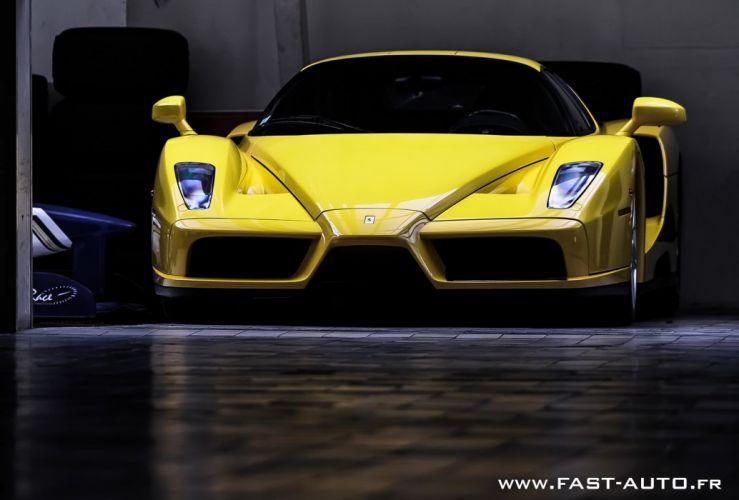 Ferrari Enzo supercars cars italia jaune yellow wallpaper