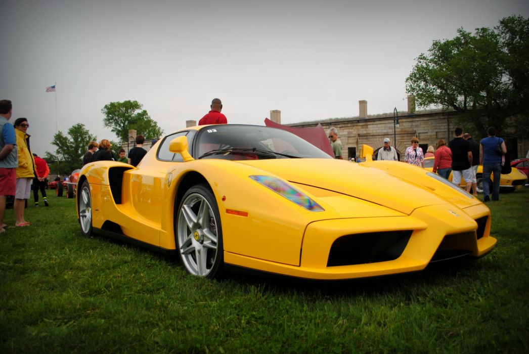 Ferrari Enzo supercars cars italia jaune yellow wallpaper