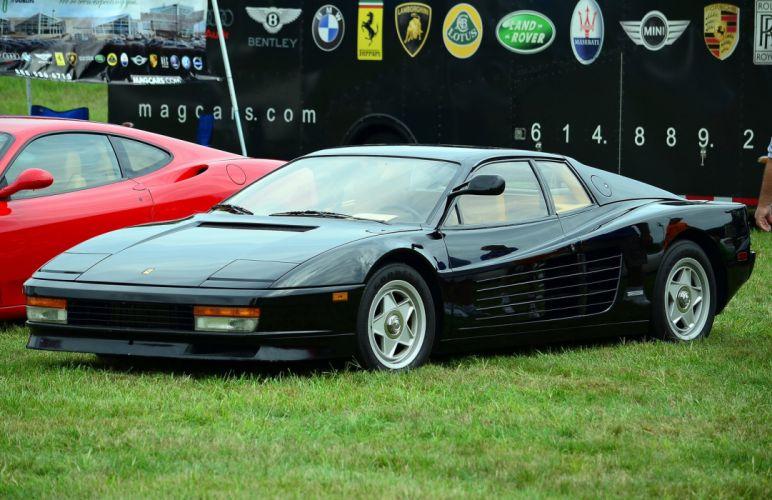 Ferrari testarossa 512 tr f512 m supercars cars italia black wallpaper