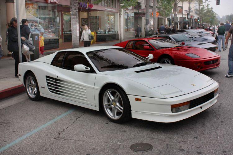 Ferrari testarossa 512 tr f512 m supercars cars italia white blanc wallpaper