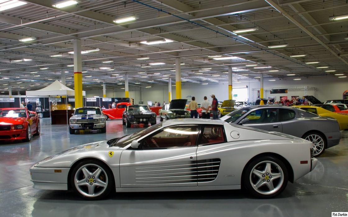 Ferrari testarossa 512 tr f512 m supercars cars italia white grey gris wallpaper