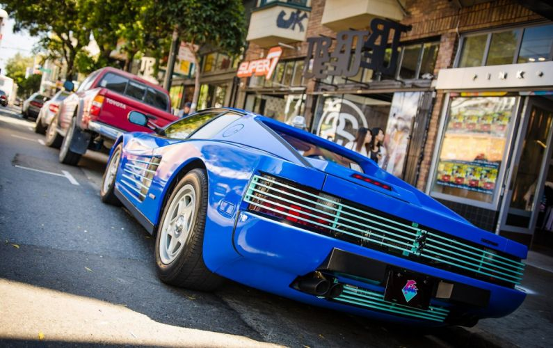 Ferrari testarossa 512 tr f512 m supercars cars italia blue wallpaper