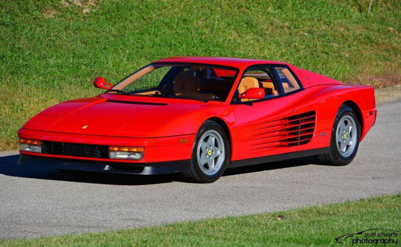 Ferrari testarossa 512 tr f512 m supercars cars italia red rouge wallpaper