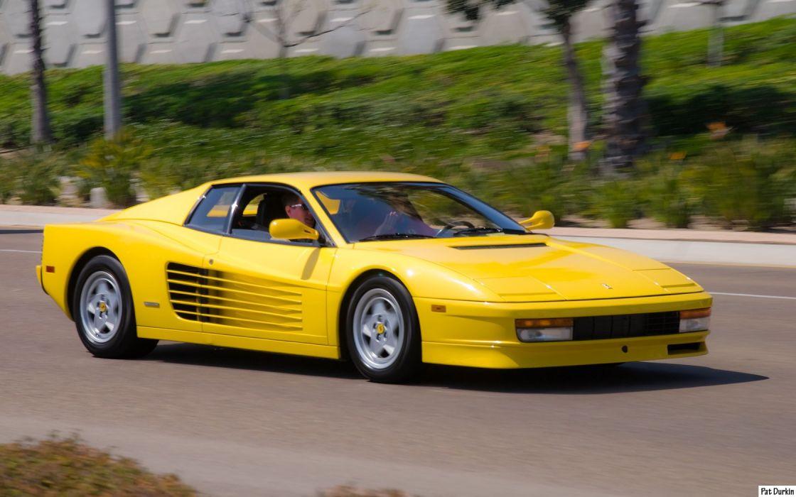 Ferrari testarossa 512 tr f512 m supercars cars italia jaune yellow