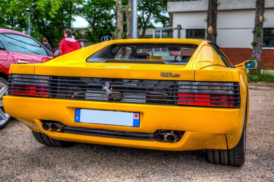 Ferrari testarossa 512 tr f512 m supercars cars italia jaune yellow wallpaper