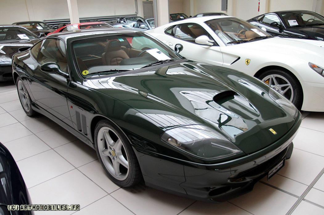 Ferrari 550 575 maranello coupe supercars CARS italia green wallpaper