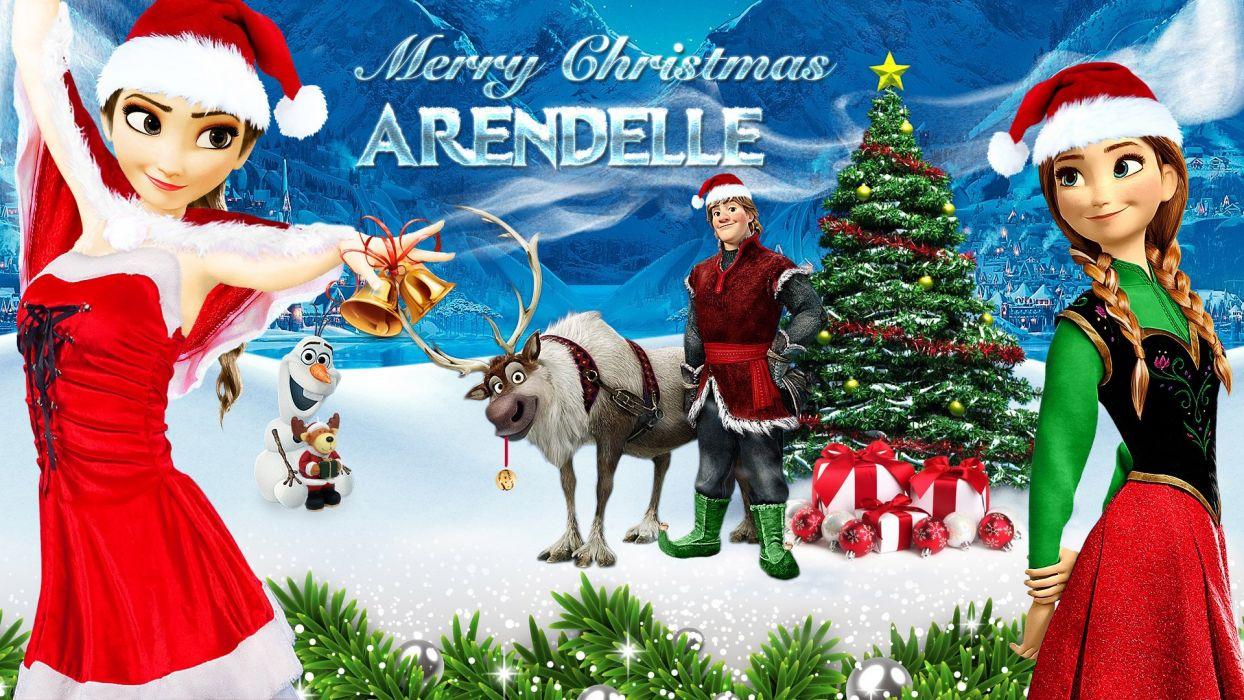 CHRISTMAS holiday frozen wallpaper