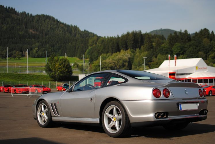 Ferrari 550 575 maranello coupe supercars CARS italia grey gris wallpaper