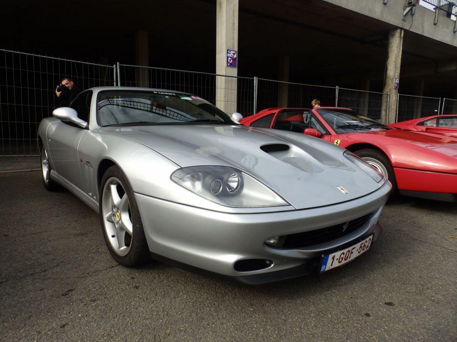 Ferrari 550 575 maranello coupe supercars CARS italia grey gris wallpaper