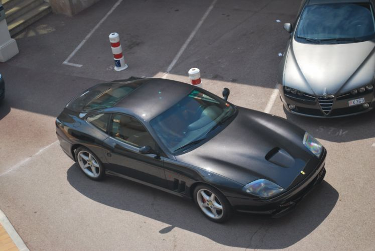 Ferrari 550 575 maranello coupe supercars CARS italia black noir wallpaper