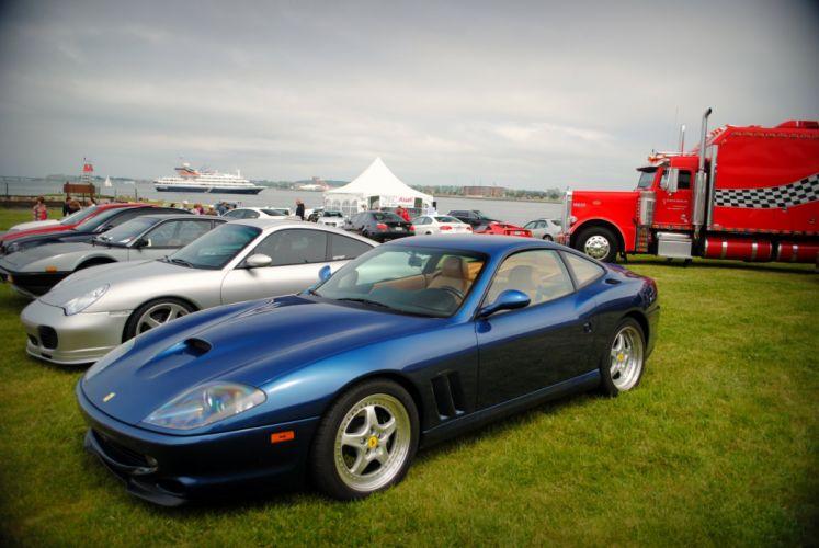 Ferrari 550 575 maranello coupe supercars CARS italia blue bleu wallpaper