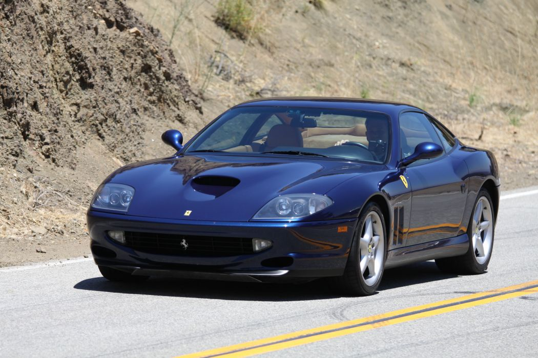 Ferrari 550 575 maranello coupe supercars CARS italia blue bleu wallpaper