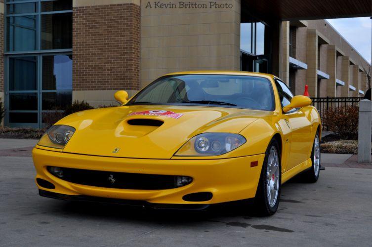 Ferrari 550 575 maranello coupe supercars CARS italia yellow jaune wallpaper