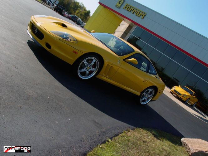 Ferrari 550 575 maranello coupe supercars CARS italia yellow jaune wallpaper