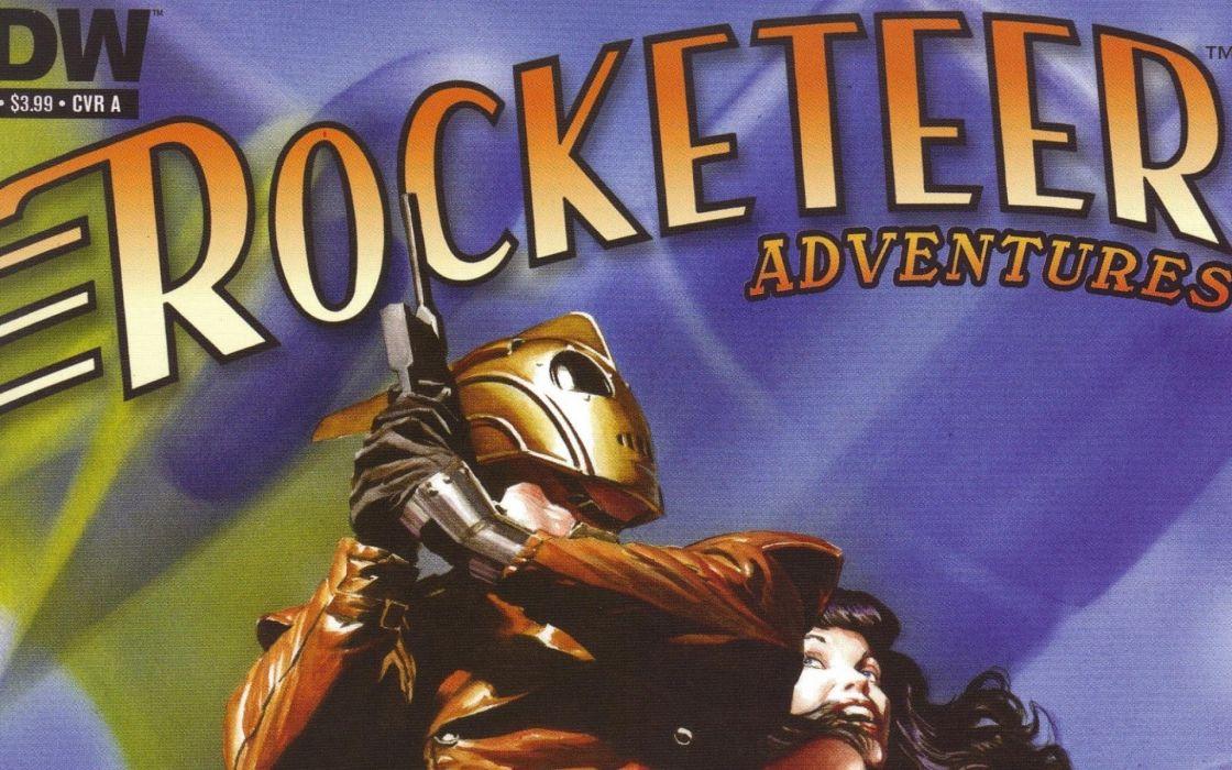 ROCKETEER superhero sci-fi wallpaper