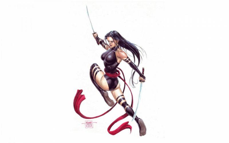 PSYLOCKE marvel fantasy warrior sexy babe x-men xmen wallpaper