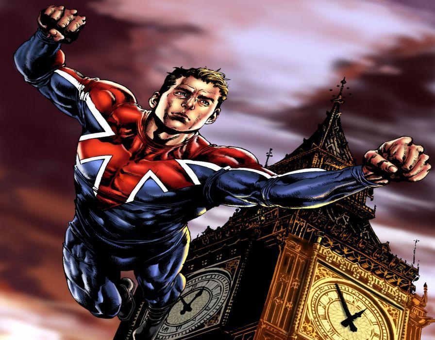 CAPTAIN BRITAIN superhero marvel wallpaper