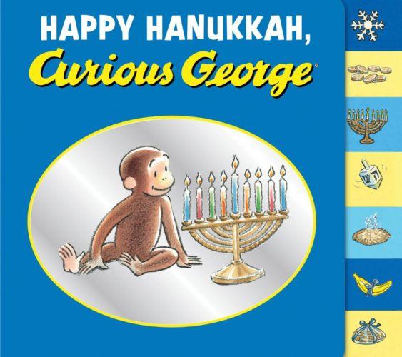 HANUKKAH jewish festival holiday candelabrum candle menorah hanukiah Chanukah curious goerge wallpaper