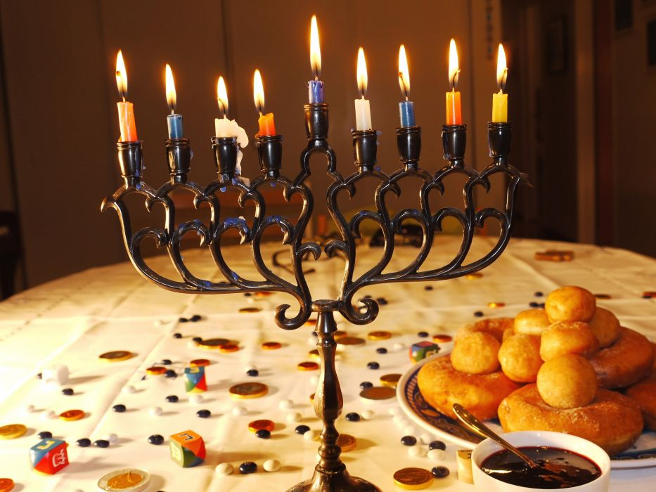 HANUKKAH jewish festival holiday candelabrum candle menorah hanukiah Chanukah wallpaper