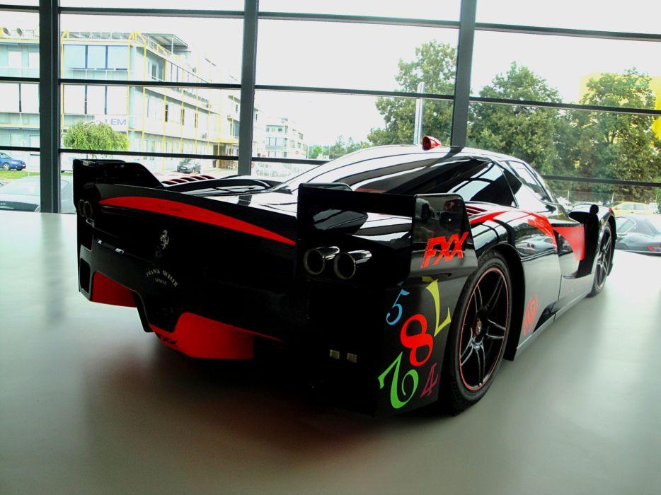 Ferrari FXX enzo racecars supercars cars race italia black noir nero wallpaper