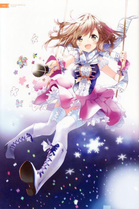 anime flower girl dress atelier tiv thighhighs tiv wallpaper