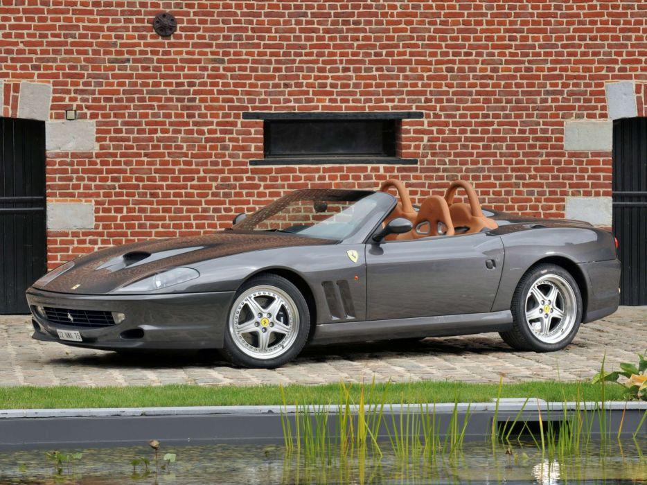 Ferrari 550 Barchetta convertible cars italia grey wallpaper