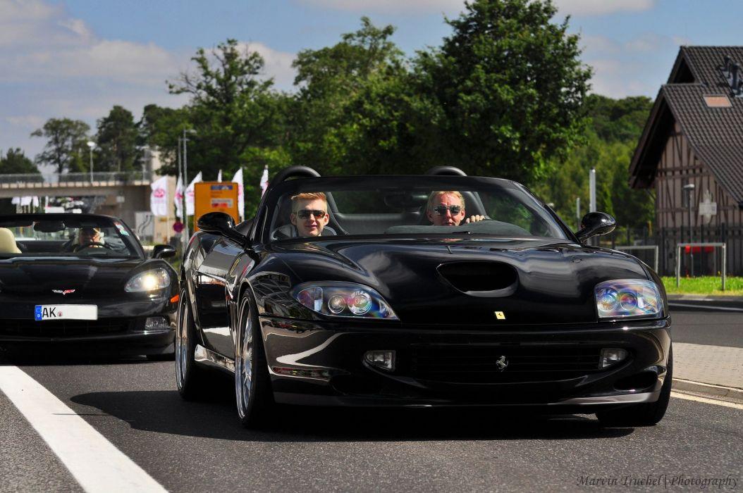Ferrari 550 Barchetta convertible cars italia black wallpaper