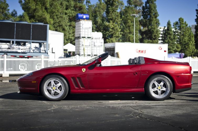 Ferrari 550 Barchetta convertible cars italia red rouge rosso wallpaper