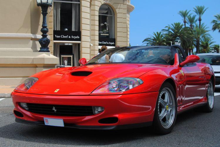 Ferrari 550 Barchetta convertible cars italia red rouge rosso wallpaper