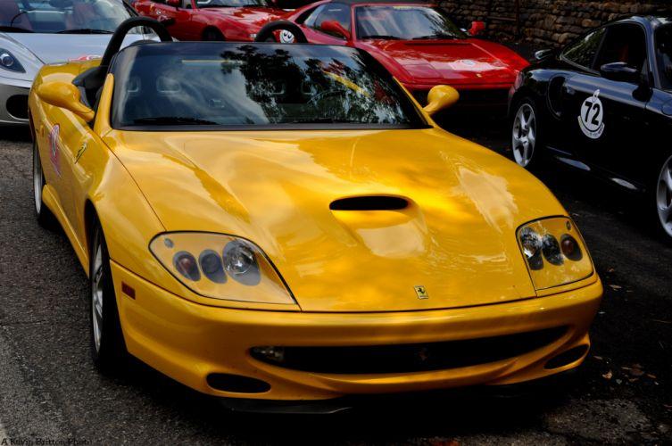 Ferrari 550 Barchetta convertible cars italia red rouge jaune wallpaper
