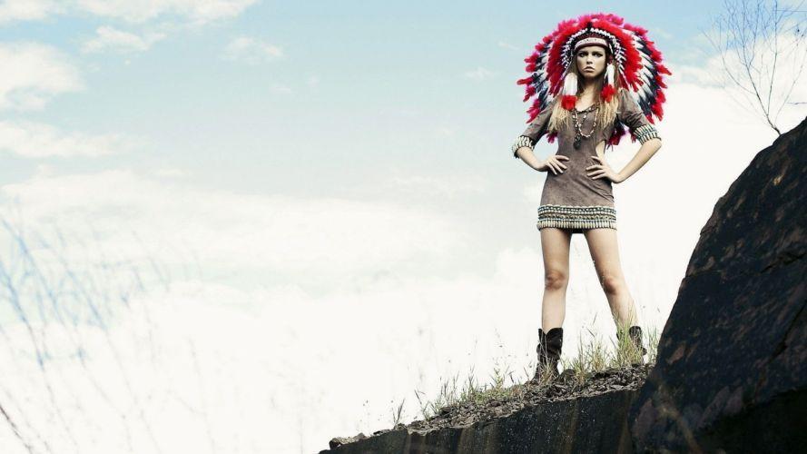 HEADDRESS - girl indian costume wallpaper