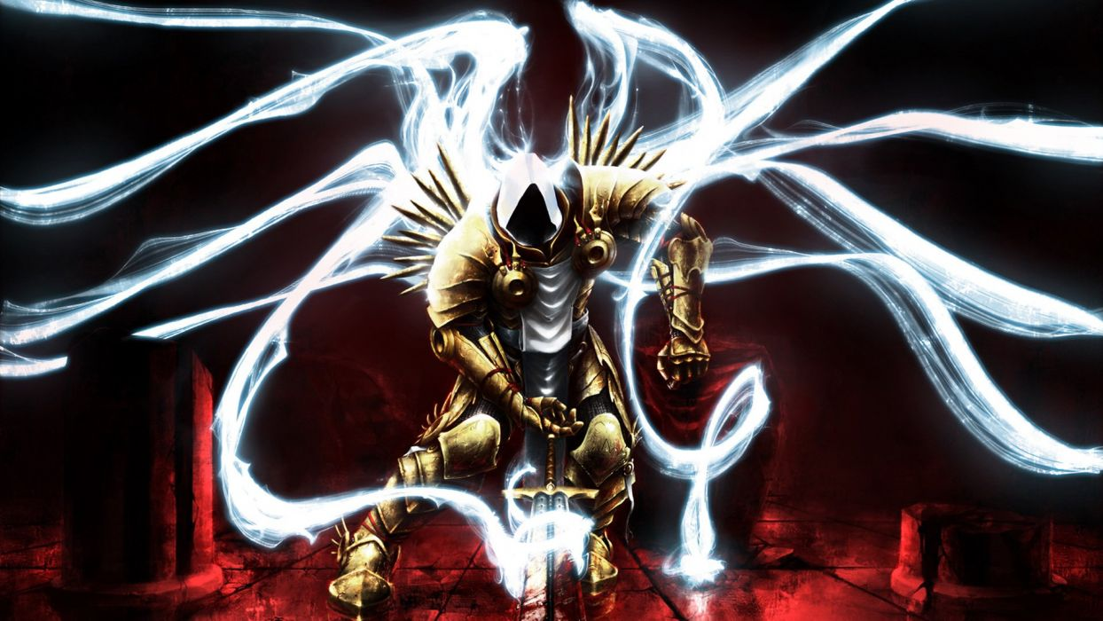 DIABLO III fantasy action rpg fighting warrior wallpaper