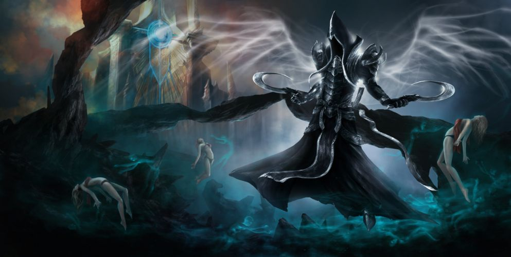 DIABLO III fantasy action rpg fighting warrior wallpaper