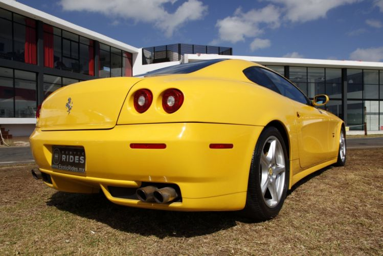 Ferrari 612 Scaglietti 2+2 cars supercars jaune yellow wallpaper