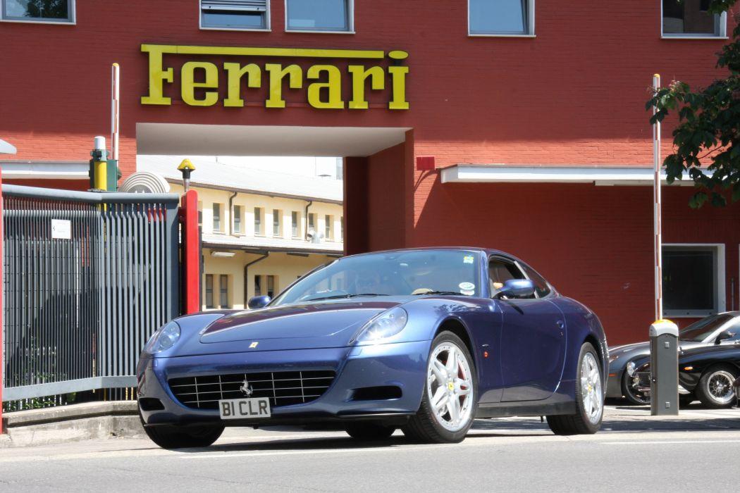 Ferrari 612 Scaglietti 2+2 cars supercars blue bleu blu wallpaper