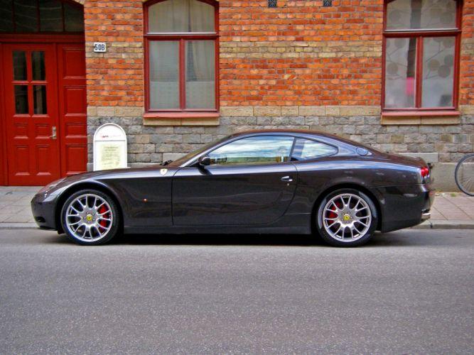 Ferrari 612 Scaglietti 2+2 cars supercars black noir nero wallpaper